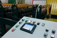 The control panel and the rolling mill