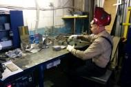 Working in the stainless steel workshop