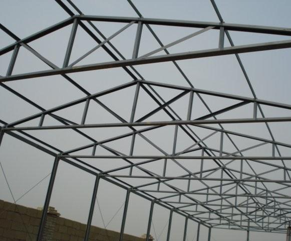 in most cases trusses are made of steel tubes of square or rectangular or of an ibeam these profiles are most practical ones